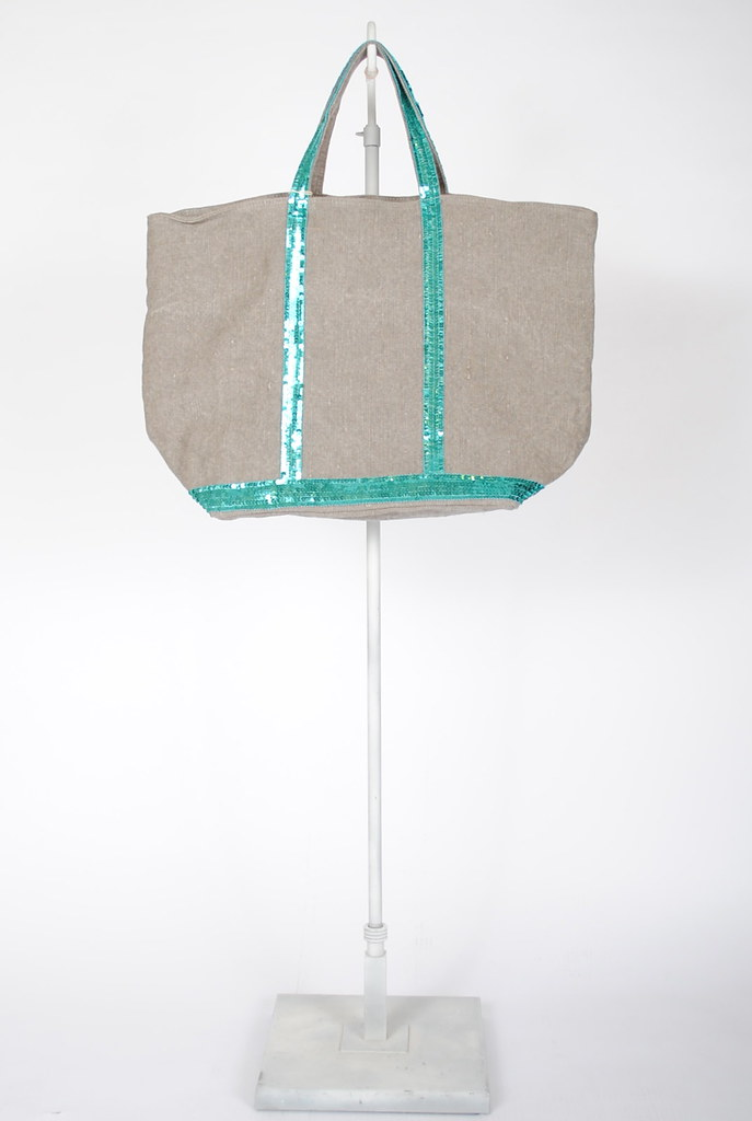 Linen Medium Sequin Tote