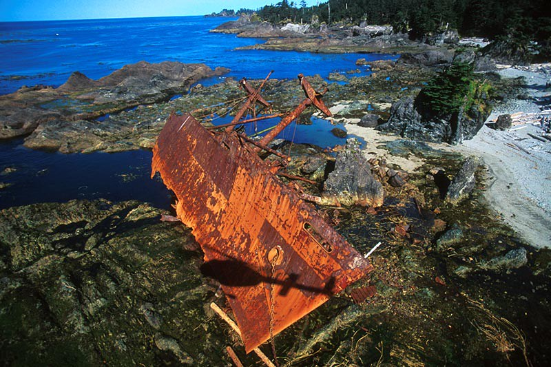 Clarksdale Victory, wrecked on Hippa Reef, Graham Island, Haida Gwaii (Queen Charlotte Islands), British Columbia, Canada