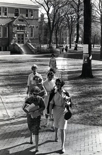 Students Walking Near Alumni Hall