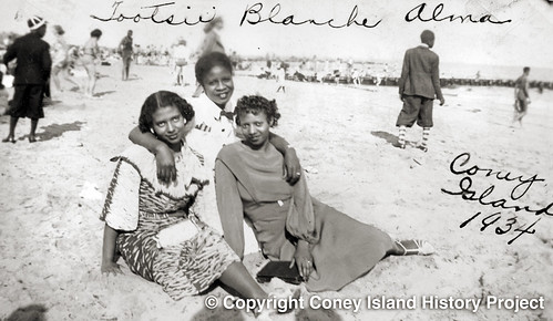 On the Beach, Coney Island. 1934