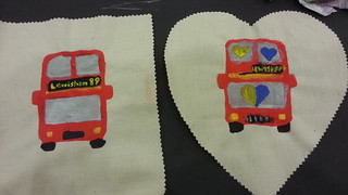 London Transport Museum Late patchwork crafting