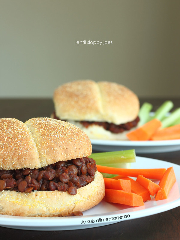 These lentil sloppy joes are wonderfully messy and fun for a hands-on, easy dinner. #vegan with #glutenfree option