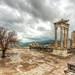 The Temple of Trajan in the rain, Bergama by Nejdet Duzen