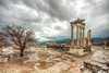 The Temple of Trajan in the rain, Bergama by Nejdet Duzen
