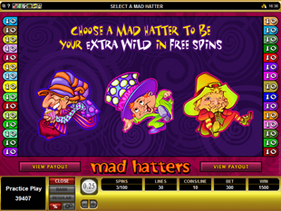 Mad Hatters Free Spins