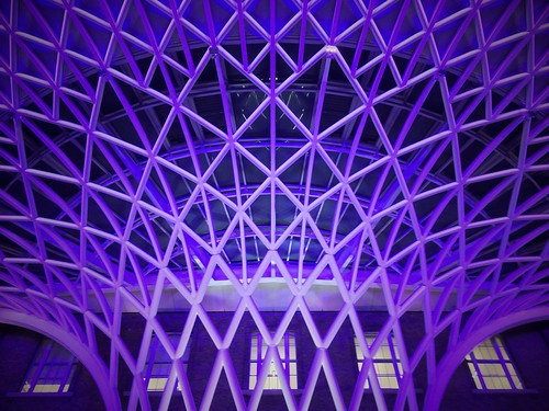 <p>Another shot of the roof at King's Cross Station. London</p>