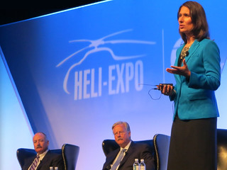 Chairman Hersman at the Heli-Expo copyright Mark Mennie Photography