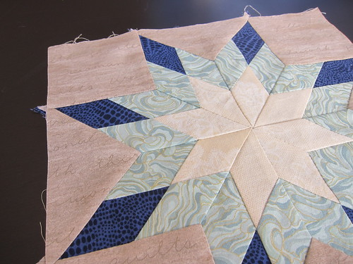 Hand pieced Star Sampler - Lone Star Block
