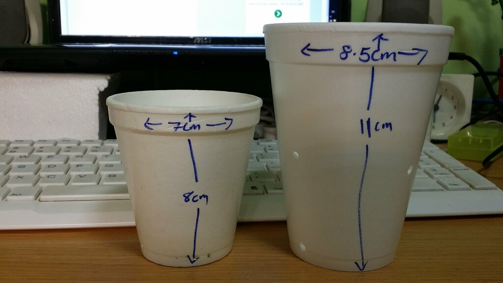 styrofoam cups as pots tools equipment and supplies