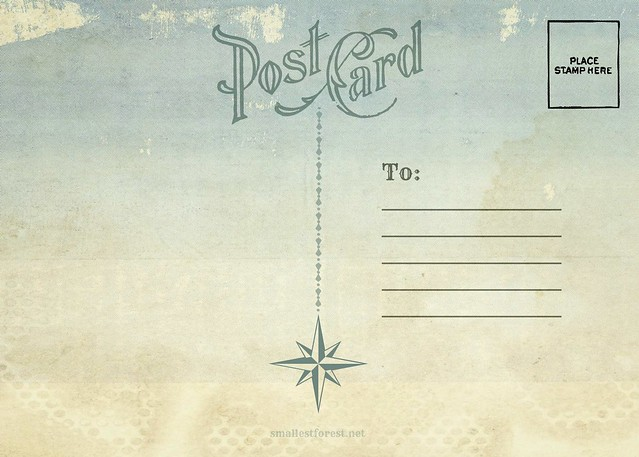 postcard back: nautical