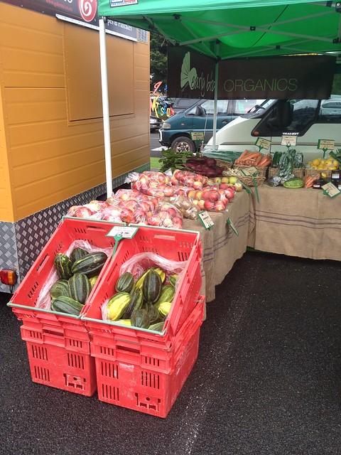 Gisborne Farmers Market Earlybird Organics stall