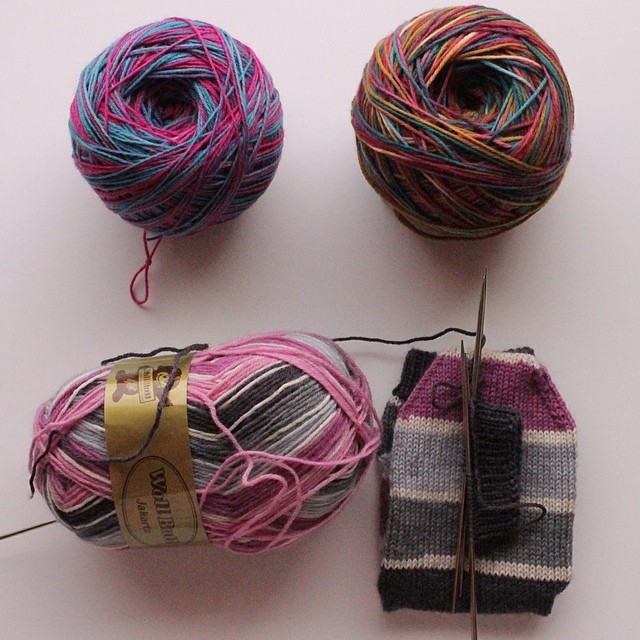 I have been having sock #knitting trouble lately. So I am motivating myself with pretty #yarn
