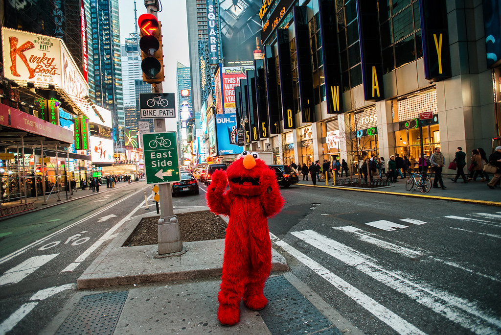 elmo in times square