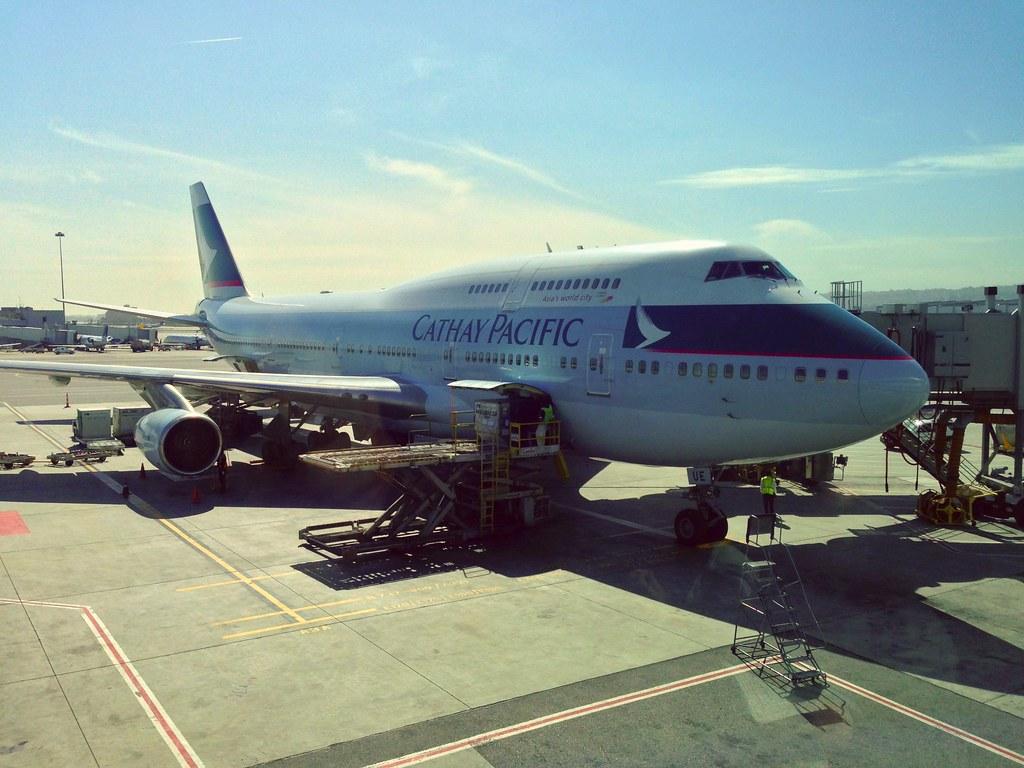Cathay Pacific Jumbo Jet