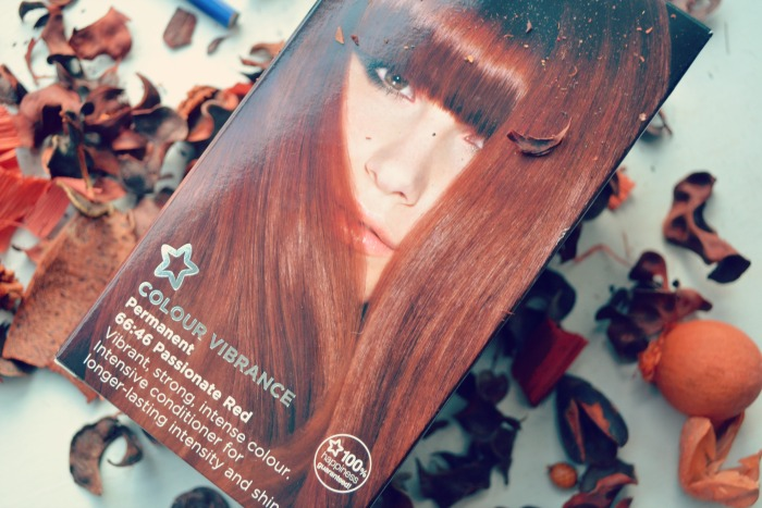 Superdrug passionate red hair dye box
