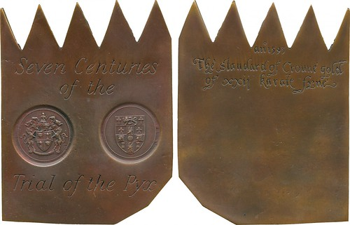 Seven Centuries of the Trial of the Pyx medal
