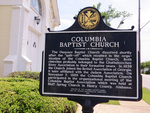 Columbia Baptist Church Marker (Reverse) (HCC) Columbia AL