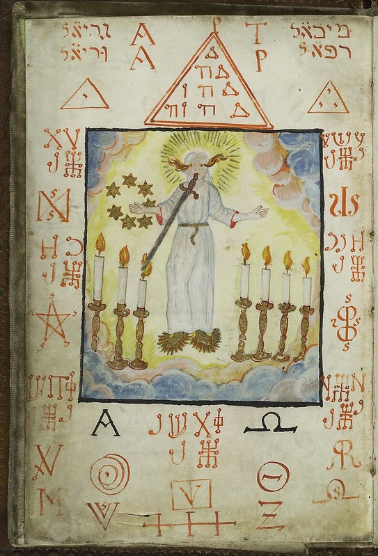 L0036626 The Archangel Metraton, from Cyprianus, 18th C