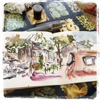 #iratxe #camping #pencil #watercolor #urbansketch