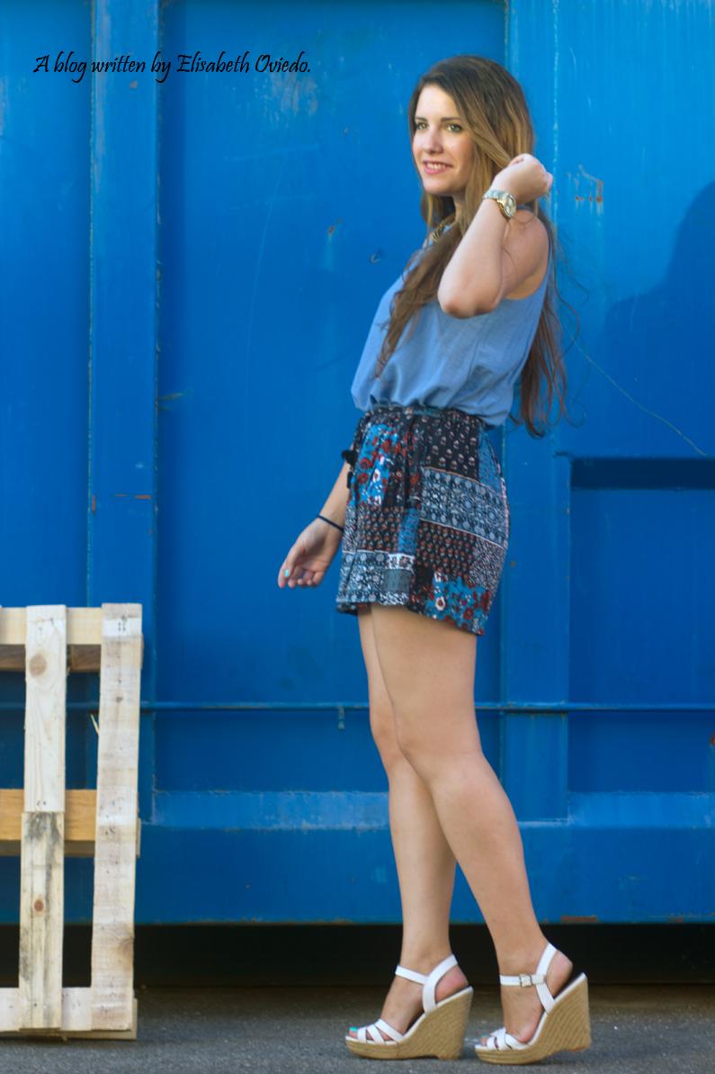 falda azul STRADIVARIUS HEELSANDROSES (6)