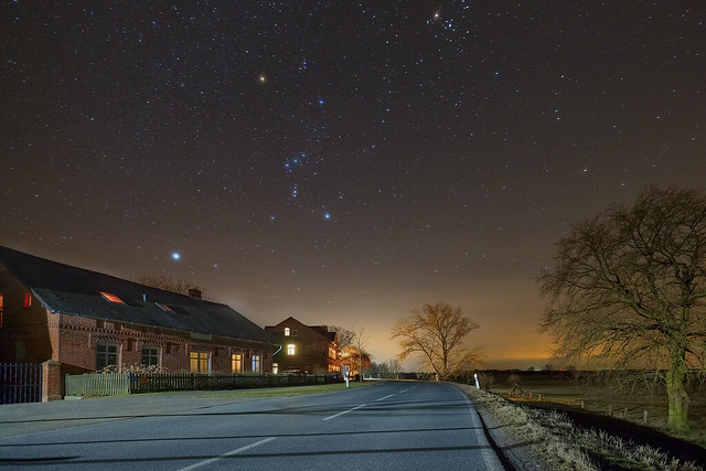 Stars over the village Penkefitz