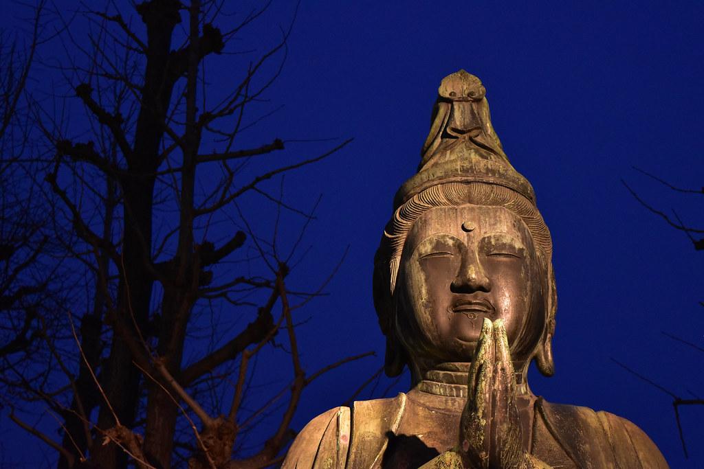 真正面からの仏像