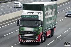 Volvo FH 6x2 Tractor - PX10 DGZ - Corine Olive - Eddie Stobart - M1 J10 Luton - Steven Gray - IMG_8635