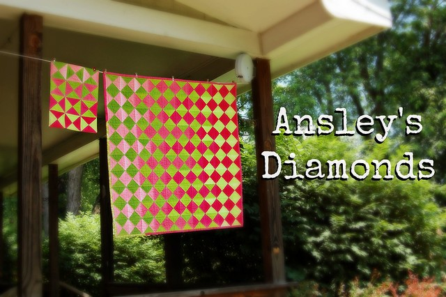 Ansley's Diamonds Baby Quilt Title