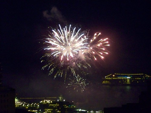Random fireworks in Monaco port