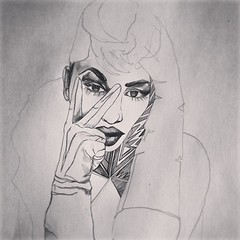 #drawing #illustration #portrait #art #sketch #fashion