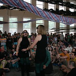 Sat, 22/06/2013 - 4:18pm - New York City's Lucius performs under the giant Phoenix at MASS MoCA. Photo by Laura Fedele