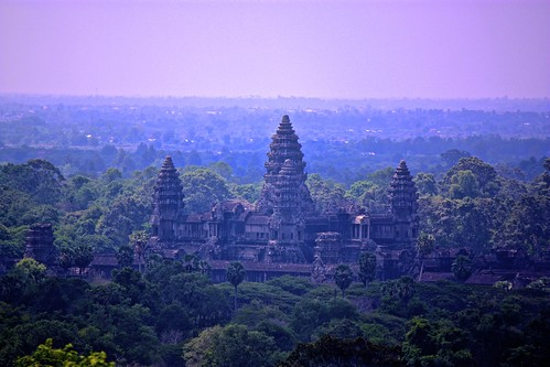 view of Angkor Wat from Phnom Bakheng