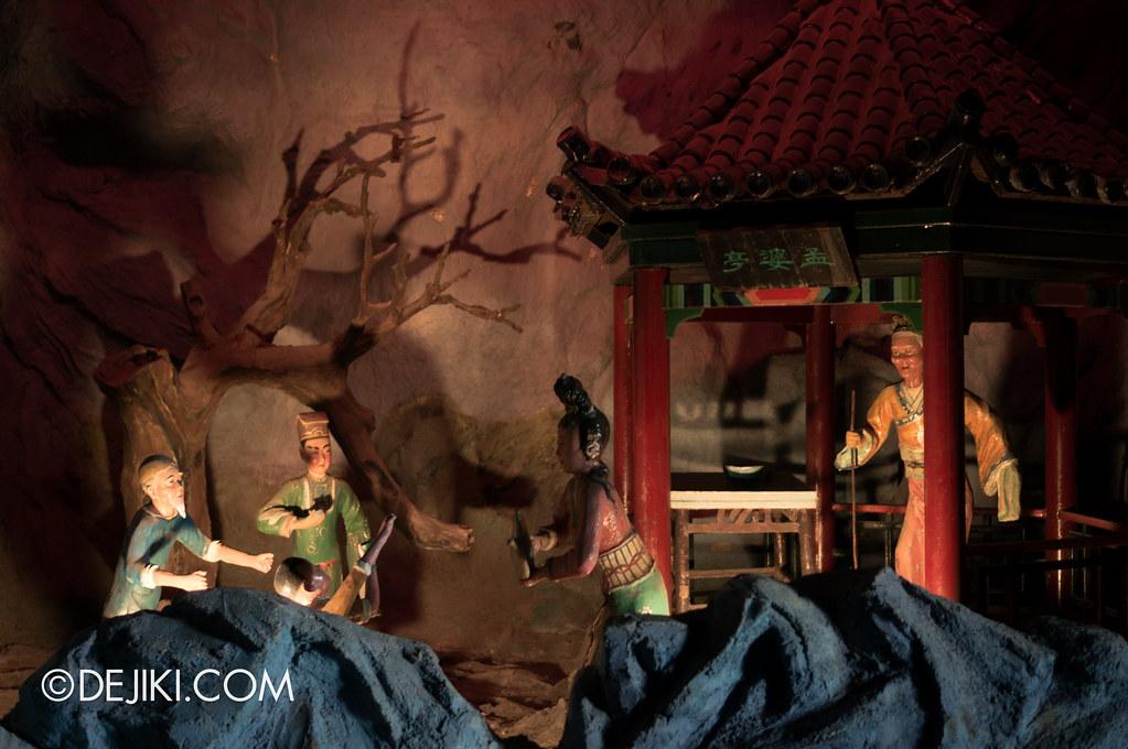 Haw Par Villa - inside ten courts of hell - Meng Po - The Waters of Oblivion