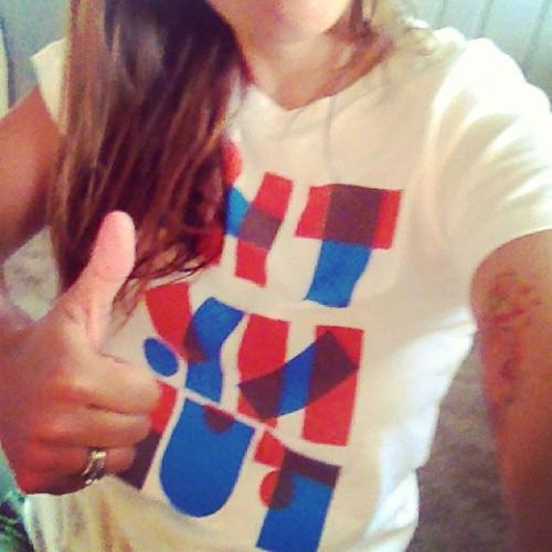 Rockin the @ambrosemakery THANKFUL shirt today. (Thanks @jennaweiler!!)