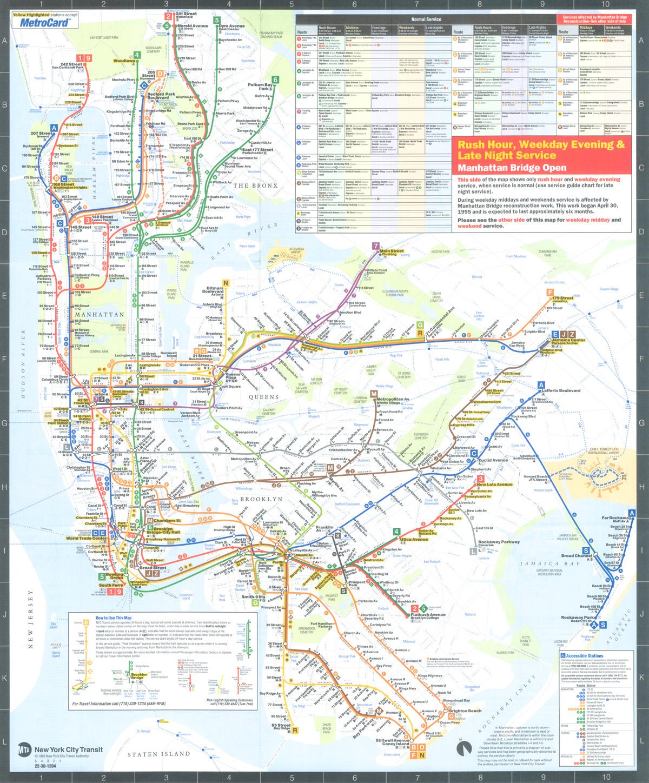 Request Nyc Subway Map.1995 Manhattan Bridge Map Scan Request New York City Subway Nyc