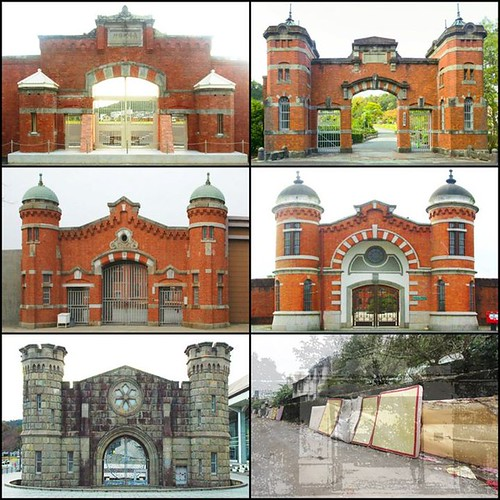 同為山下啓次郎作品的臺南監獄 圓型衛塔與奈良和千葉監獄相似