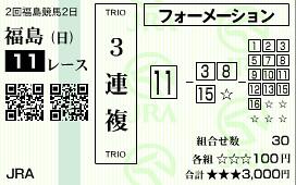 ラジオNIKKEI賞3連複