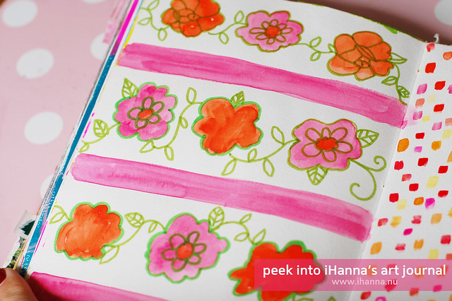 Art Journal Peek: Painting Patterns