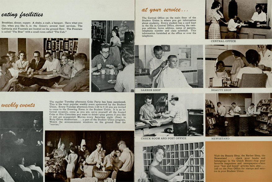 Student Union Building brochure, 1950s