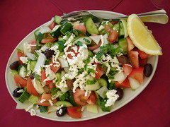 panzanella(0.0), plant(0.0), waldorf salad(0.0), caesar salad(0.0), melon(0.0), ceviche(1.0), salad(1.0), vegetable(1.0), greek salad(1.0), produce(1.0), fruit(1.0), food(1.0), dish(1.0), cuisine(1.0), feta(1.0),