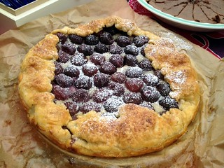 almond and cherry galette, p 229 in The Book