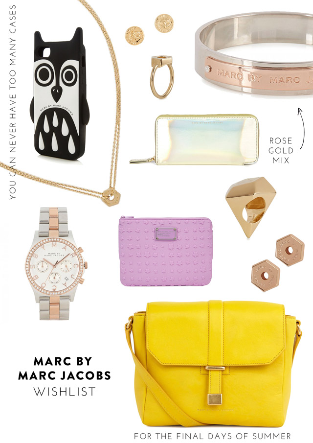 MARC BY MARC JACOBS ACCESSORIES BAGS JEWELLERY WISHLIST
