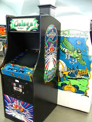 play(0.0), recreation(0.0), arcade game(1.0), video game arcade cabinet(1.0), games(1.0),
