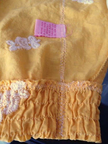 Yellow Rose of Texas Dress-to-Cami Refashion - In Progress