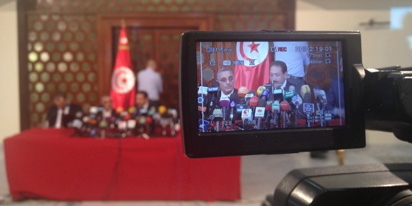 Ministry of Interior press conference, August 28, 2013. Image credit: Youssef Gaigi, Tunisia Live