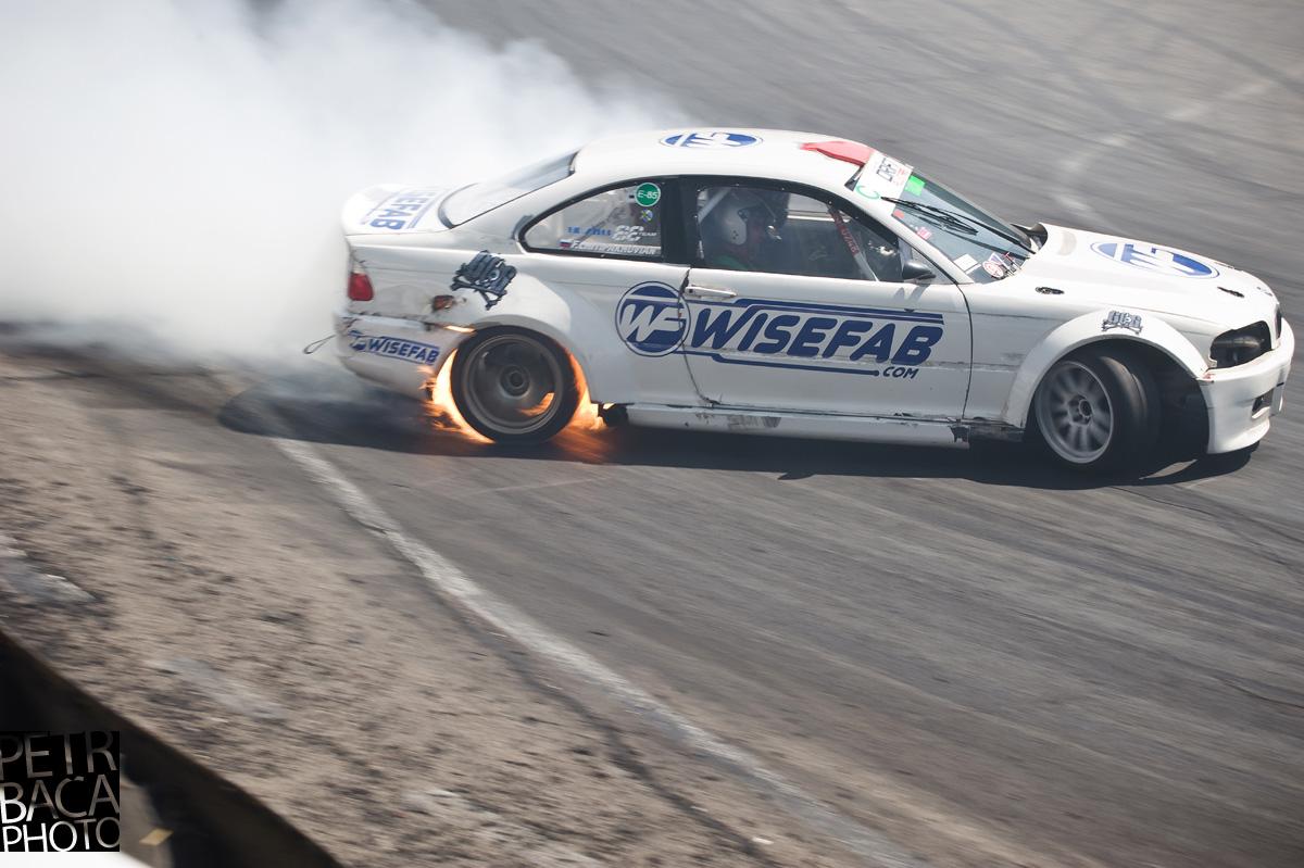 Trackwood Drift Festival, Máriapócs, RábocsiRing, EEDC, Eastern European Drift Championship, Drift Allstars, Felix Chitipakhovyan, BMW Coupé E46, wheel on fire