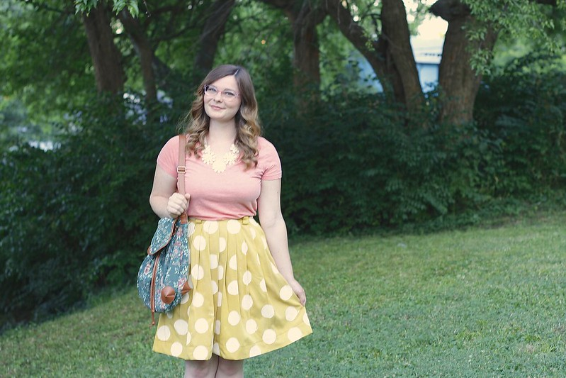 diy polka dot skirt