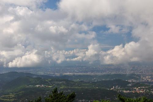 眺望台北盆地
