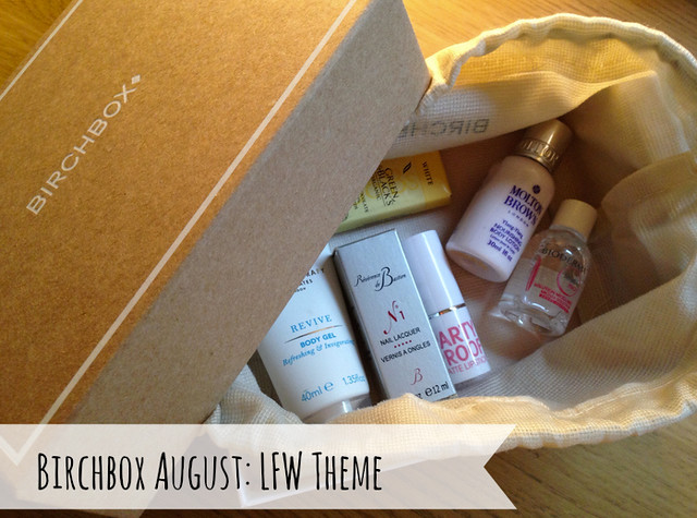 birchbox august 2013 LFW edition