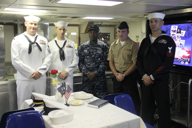 Prisoner Of War Remembrance Ceremony Onboard USS Avenger